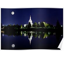 Snake River Full Moon Reflection 20x30 Poster