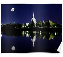 Idaho Falls Full Moon Reflection 20x24 Poster