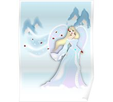 Snow Angel - White Poster