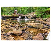 Glade Creek Mill - Wide Angle View Poster