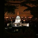 Oakland Temple City Lights 20x24 by Ken Fortie