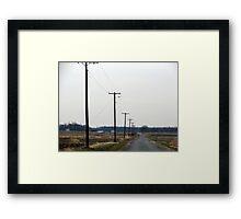 Telephone Poles, Fruit Road Framed Print