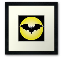 Halloween Vampire Batty Framed Print