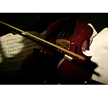 The unplayed Violin. Photographic Print