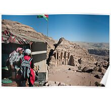 Best view in Petra Poster