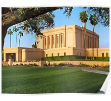 Evening at the Mesa Temple 20x24 Poster