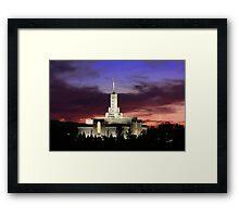 Mt. Timpanogos Crescent Moon Sunset 20x30 Framed Print