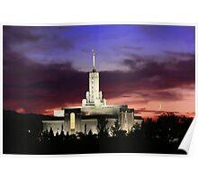 Mt. Timpanogos Crescent Moon Sunset 20x30 Poster