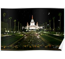 Oakland Temple Crescent Moon 20x30 Poster