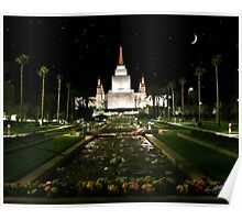 Oakland Temple Crescent Moon 20x24 Poster