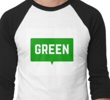 GREEN Men's Baseball ¾ T-Shirt