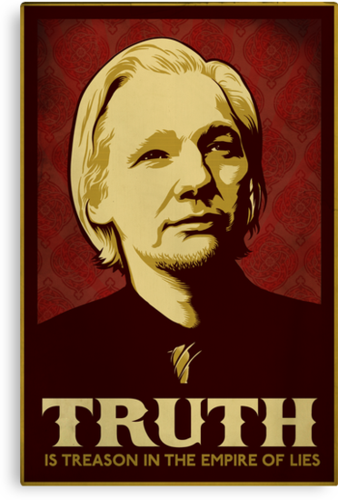 Julian Assange Truth Is Treason by LibertyManiacs