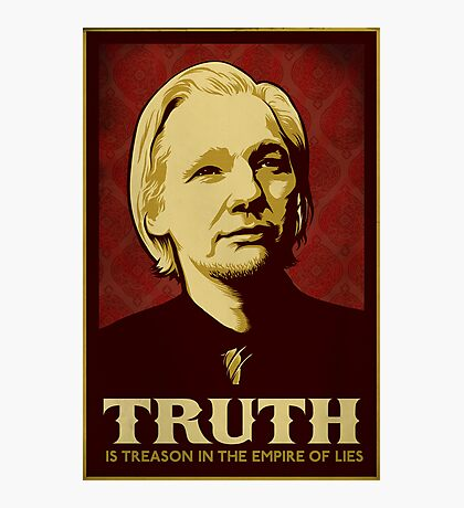 Julian Assange Truth Is Treason Photographic Print