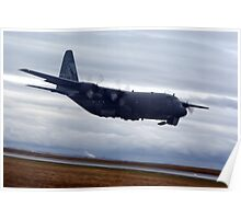 Low and Slow C-130 Poster