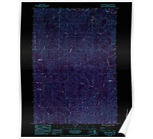 USGS Topo Map Oregon Roman Nose Mtn 281307 1984 24000 Inverted Poster