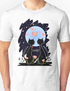 Valentine's day Tee with cats in love Unisex T-Shirt