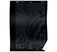 USGS Topo Map Oregon Franklin Hill 20110903 TM Inverted Poster