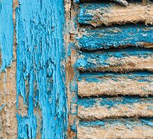 Old Blue Shutter I by physiognomic