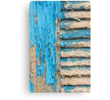 Old Blue Shutter I Metal Print