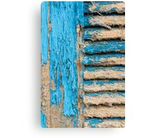 Old Blue Shutter I Canvas Print