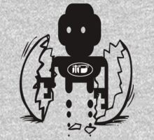 usa scifi tshirt with robot and egg by ian rogers T-Shirt