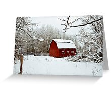 The Red Barn....North Style Greeting Card