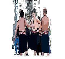 Maori Boys dancers Photographic Print