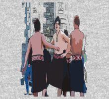 Maori Boys dancers One Piece - Short Sleeve