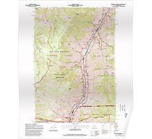 USGS Topo Map Oregon Squirrel Prairie 281607 1995 24000 Poster