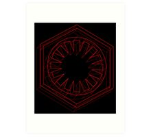 Star Wars First Order Red - 2 Art Print