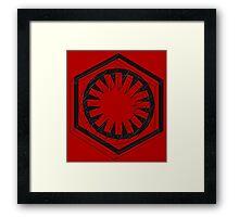Star Wars First Order Black Framed Print