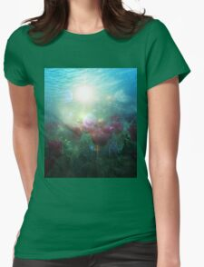 Underwater Tulips Womens Fitted T-Shirt