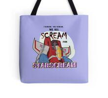 We All Scream for Starscream (light tee) Tote Bag
