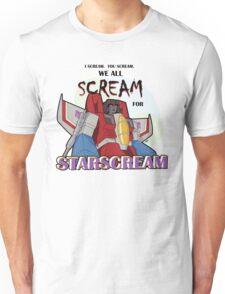 We All Scream for Starscream (light tee) Unisex T-Shirt