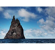 Pushing the Sea Stack Photographic Print
