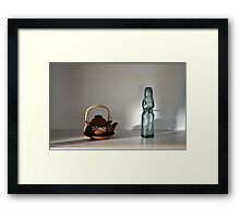 Japanese Tea Pot and Soda Bottle Framed Print