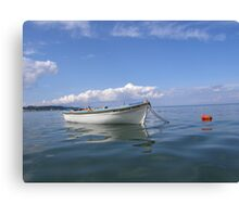 Floating In Blue & White Canvas Print