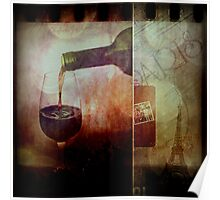 Memories of Red Wine In Paris Poster