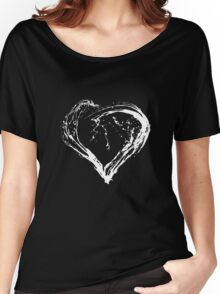 Abstract White Heart  Women's Relaxed Fit T-Shirt