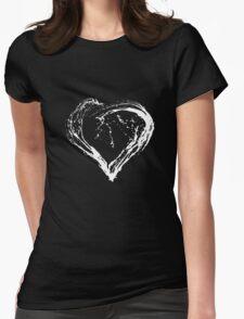 Abstract White Heart  Womens T-Shirt