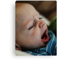 Yawning Canvas Print