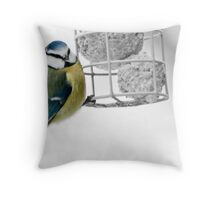 Garden Bird Blue Tit Throw Pillow