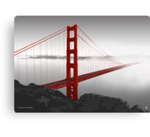 Golden Gate Bridge (Vectorillustration) Canvas Print