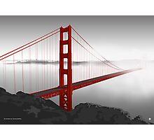 Golden Gate Bridge (Vectorillustration) Photographic Print