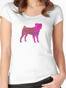 Pink Pug Women's Fitted Scoop T-Shirt