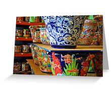Mexicali Pottery Greeting Card