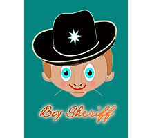 Toon Boy 12 Boy Sheriff T-shirt, etc.design Photographic Print