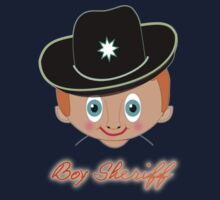 Toon Boy 12 Boy Sheriff T-shirt, etc.design One Piece - Long Sleeve