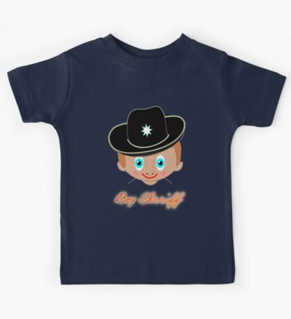 Toon Boy 12 Boy Sheriff T-shirt, etc.design Kids Tee