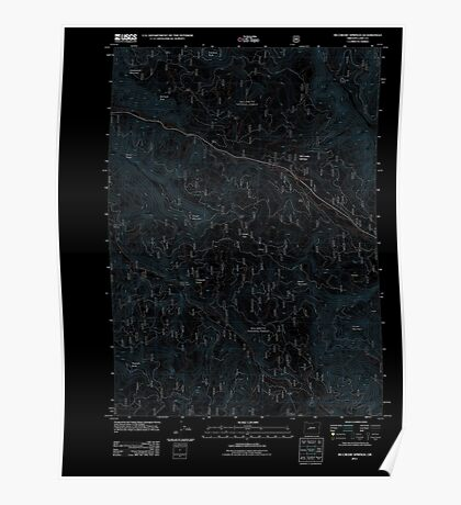 USGS Topo Map Oregon McCredie Springs 20110722 TM Inverted Poster